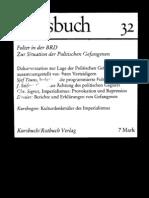 Kursbuch 32 Folter in der BRD - Zur Situation der Politischen Gefangenen