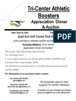 Booster Club Dinner-Auction Flyer 2014