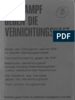 Dokumentensammlung Der Komitees gegen Folter - Der Kampf Gegen die Vernichtungshaft 1974