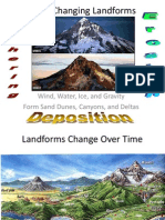 landforms change due to w e d
