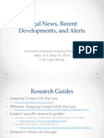 Research Assistant Training - Legal News Recent Developments and Alerts