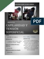 Ensayo de Capilaridad y Tensión Superficial