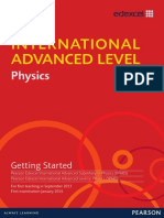 IAL Physics Getting Started Issue 1