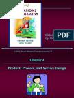 Ch4. Product, Process & Service Design
