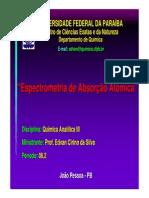 Espectrometria de Absorcao Atomica