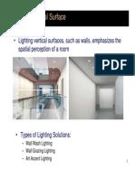 Lighting a Vertical Surface