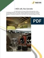 Thiết kế quán cafe, quầy bar, karaoke chuyên nghiệp bởi Sao Kim