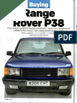 2014 Land Rover Owners International Magazine's Range Rover P38