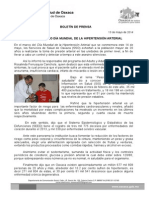 13/05/14 CONMEMORA SSO DÍA MUNDIAL DE LA HIPERTENSIÓN ARTERIAL