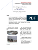 Efects of Cavitation in Hydraulic Machines