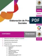 Elaboración de Proyectos Sociales 14-01-09