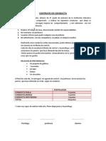 Contrato de Conducta