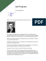 Principles and Programs