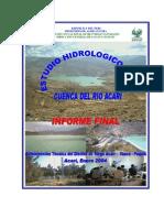 Estudio Hidrologico RÍío Acari