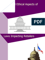 Legal and Ethical Characteristics of Retailing