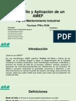 Desarrollo y Aplicación de Un AMEF