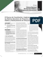 Nucleos Ejecutores Para PIP y Mantenimiento