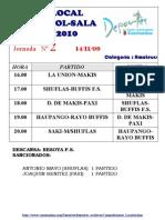 JORNADA02Liga Local Futbol Sala