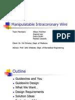 Mid-Semester Presentation - Intracoronary Guidewire.ppt
