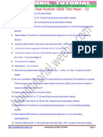 10th Real Numbers Test Paper-2by Jsunil