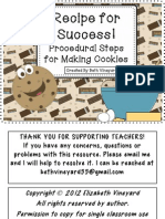 Cookie How to Procedural Writing Freebie