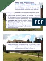 Power Point, Las Partes en El Proceso Civil, PDF.