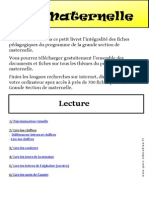 Livret Pédagogique Grande Section GS