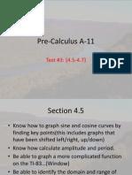 Pre Calculus a 11