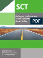 Guia Para La Obtencion de Los Elementos de Obra Publica