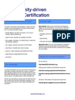 A Community Driven BSD Certification