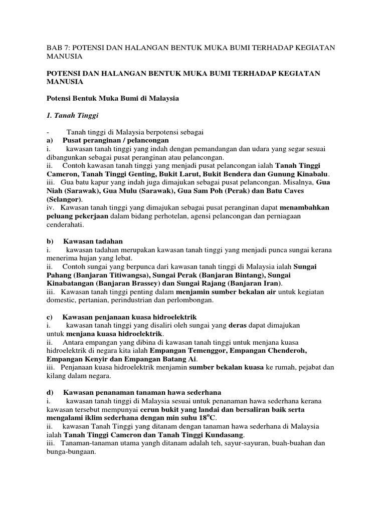 Bab 7 Potensi Dan Halangan Bentuk Muka Bumi