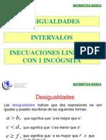 Inecuaciones Lineales 1 Variable