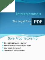 Entrepreneurship - Legal Form of New Ventures