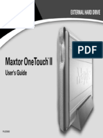 Maxtor OneTouch II Installation Guide-Manual