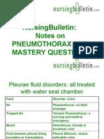 NursingBulletin Notes on Pneumothorax