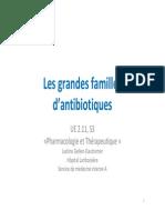 Ue 2 11 s3 Les Grandes Familles d Antibiotiques