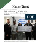 AT&T Donates $150,000 to NACME in White Plains NY