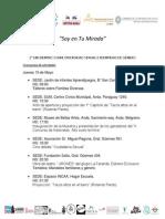 Programa II Encuentro 15 - 16 y 17 de Mayo 2.014