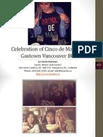 Celebration of Cinco de Mayo in Gastown Vancouver British Columbia