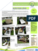 Making a Wicking Bed from a Bath for Drought Gardening