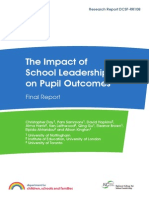 Leithwood. the Impact of School Leadership on Pupil Outcomes
