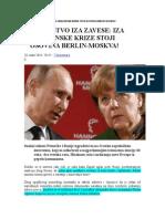 Savezništvo Iza Zavese Iza Ukrajinske Krize Stoji Osovina Berlin