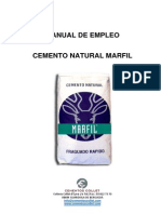 Manual de Empleo Cemento Natural Marfil