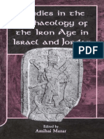 1841272035 - Studies in the Archaeology of the Iron Age in Israel and Jordan