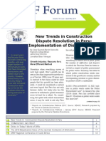 New Trends in Construction Dispute Resolution in Peru