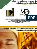 LAPS 2009 - Marco Juridicon Venezolano en Materia de Salud Mental en El Trabajo. Mila Barboza
