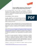Publicidad Oficial- Recursos Públicos Ejercidos Por El Poder Ejecutivo Federal en 2013, Primer Año Del Presidente Enrique Peña Nieto
