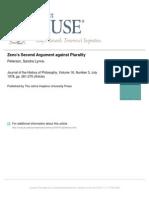 Zeno's Second Argument against Plurality