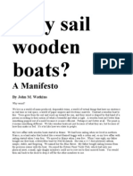 Why Sail Wooden Boats