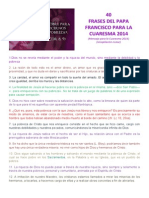 40 Frases Papa Francisco